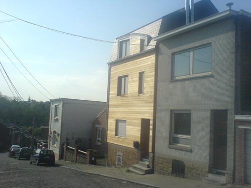 rehausse ossature bois d 39 une maison mitoyenne en ville architecture bois. Black Bedroom Furniture Sets. Home Design Ideas