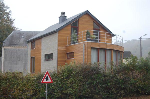 Maison à ossature bois avec rotonde vitrée architecture bois