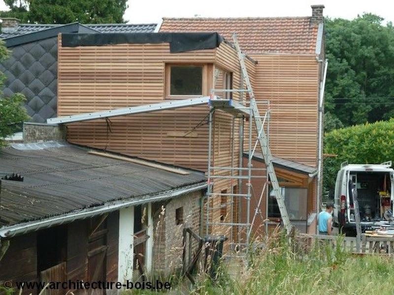 Chantier L à Huy  Architecture & Bois