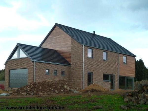 Habitation osb 3 chambres avec briques bardage c dre et for Extension maison osb