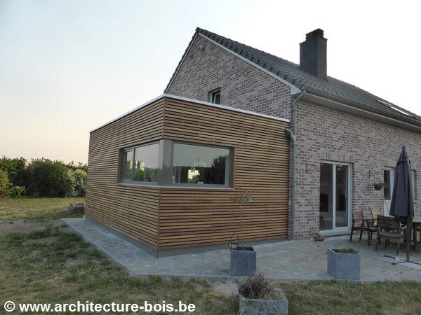 Extension en bois de 24 m2 un peu de bois avant les for Annexe maison