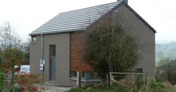 Maison ossature bois compacte