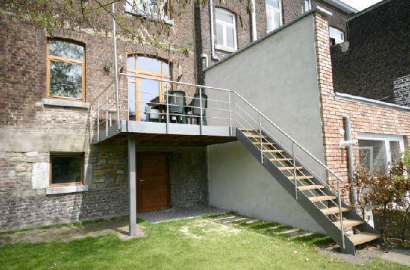 Terrasse en acier et bois  Architecture & Bois