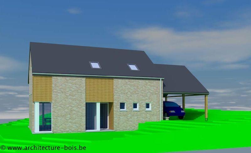 Maison bois et briques dans un lotissement architecture for Extension maison dans un lotissement