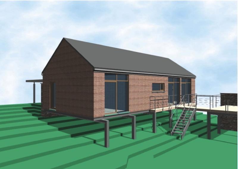 un bungalow sur pilotis architecture bois. Black Bedroom Furniture Sets. Home Design Ideas
