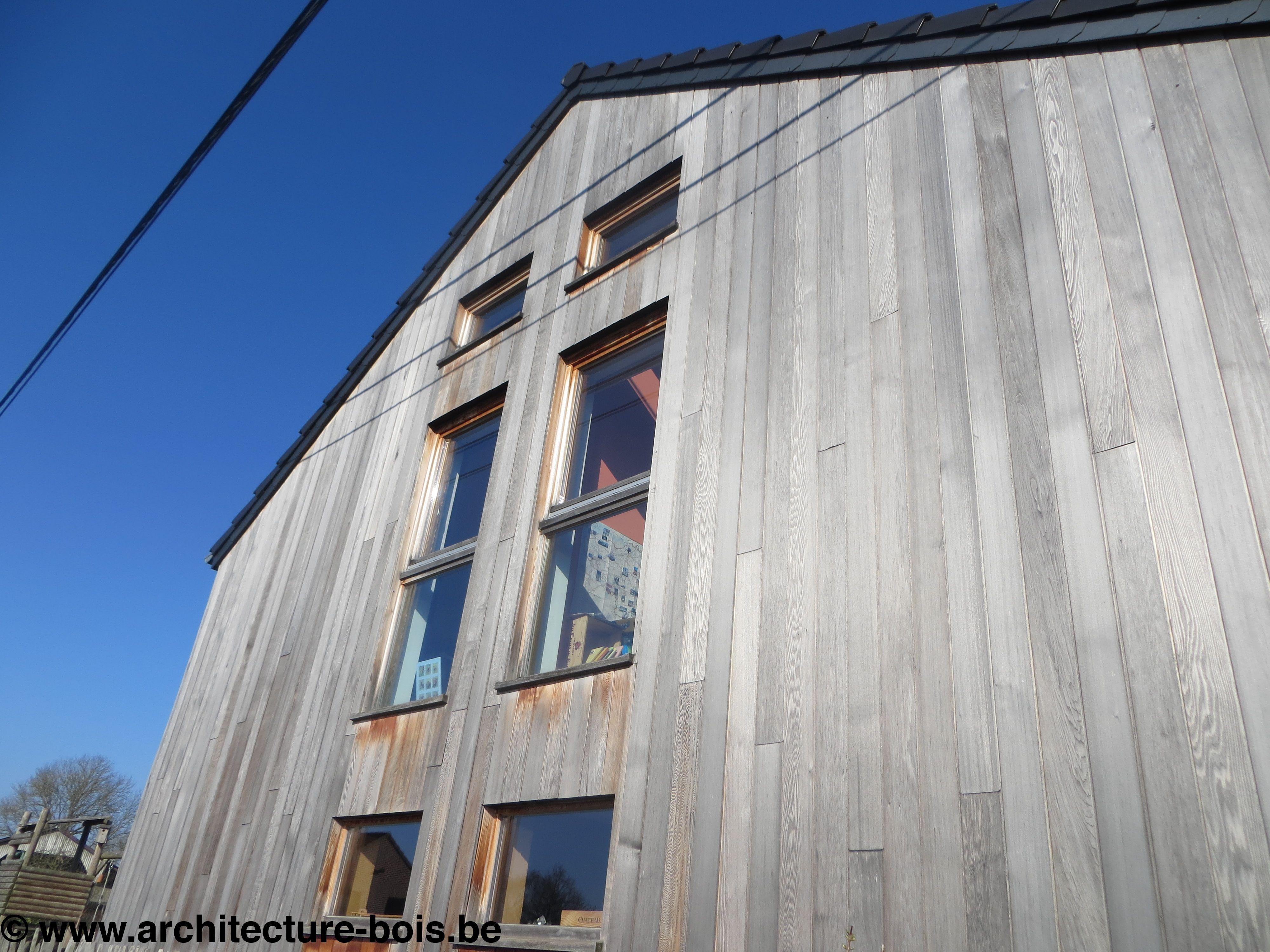 Maison 4 fa ades bioclimatique architecture bois for Architecture en bois