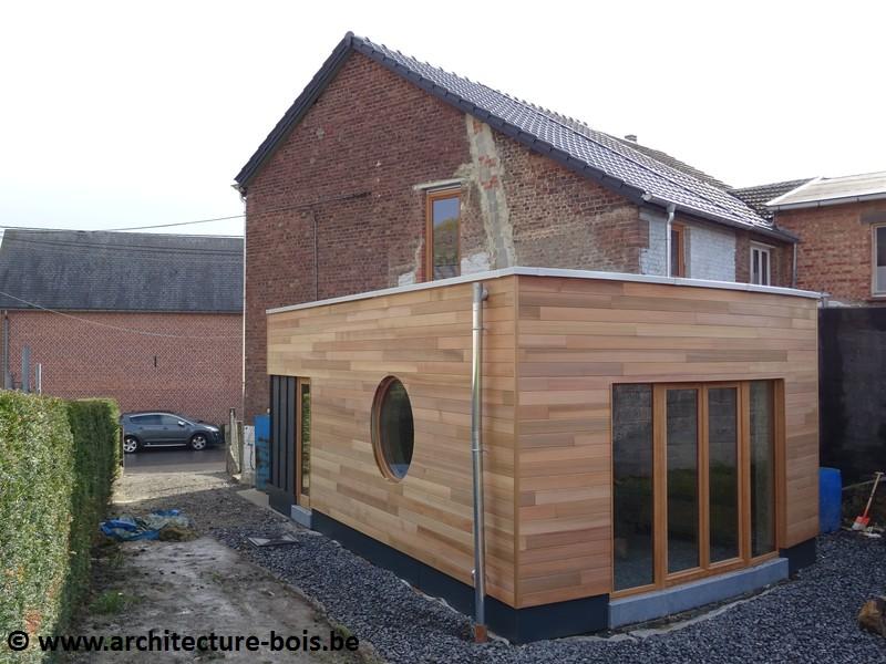 Transformation Et Extension En Bois D 39 Une Petite Maison
