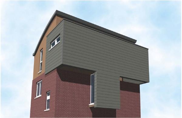 Rehausse d 39 une habitation avec toiture cintr e et bardage for Travail du zinc toiture