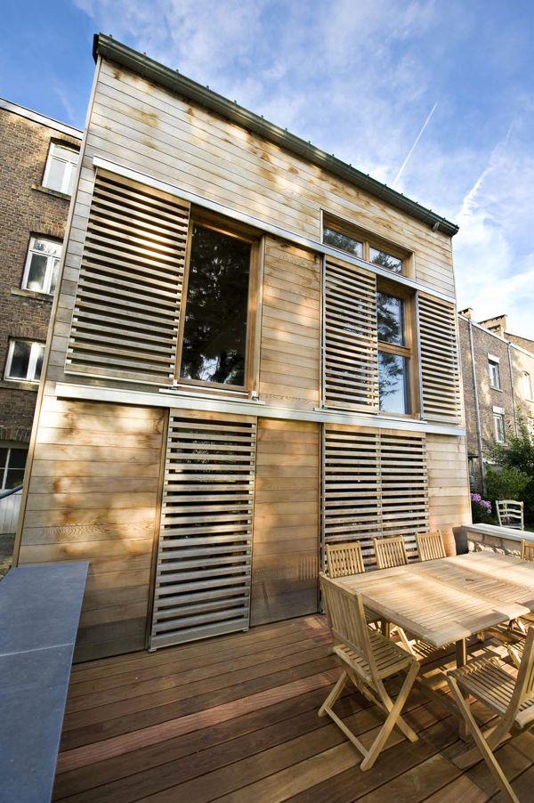 Annexe en bois architecture bois - Annexe maison ossature bois ...