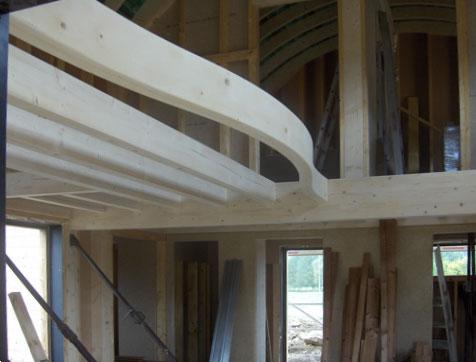 maison ossature bois avec toiture cintr e architecture bois. Black Bedroom Furniture Sets. Home Design Ideas