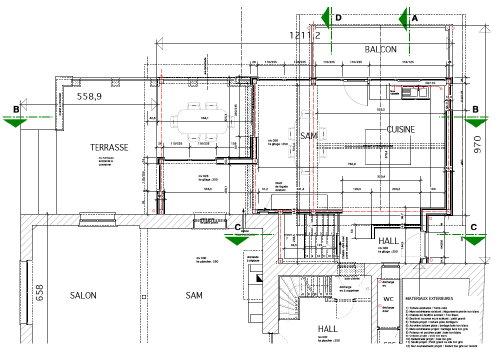 Annexe avec vue en bardage gris et blanc architecture bois for Architecture de la maison blanche